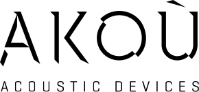 logo payoff - AKOÚ   Acoustic devices
