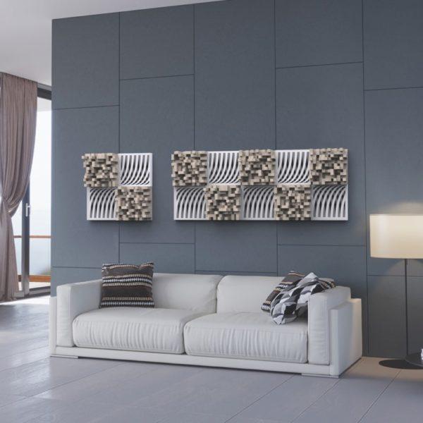 wall custom white ribbons - AKOÚ | Acoustic devices